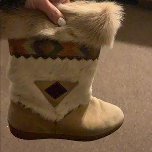 Tecnica Shoes - 🔥🖤 Vintage Tecnica real fur snow boots rare 🧡